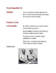 Venn Diagram Of Roman Republic And Roman Empire Cornell Notes Roman Empire To Republic Emperors Pax Romana
