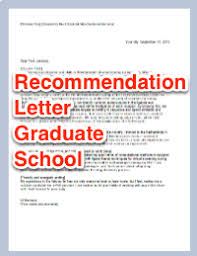What To Include In A Recommendation Letter For Grad School Recommendation Letter Graduate School