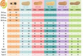 Age And Shoe Size Chart Age And Shoe Size Chart