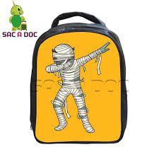 funny dab cartoon walking dead kindergarten backpack children bags boys s hiphop style bookbag student