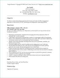 Basic Resume Objective Samples Cover Letter Format And Bussines