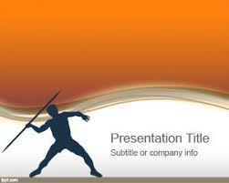 Olympic Javelin Powerpoint Template Is A Free Powerpoint