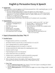 E9 Persuasive Essay Essays Communication