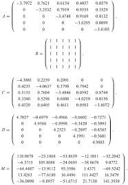 as the first example we consider the linear matrix equation axb cxtd m with