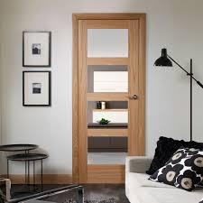 top notch glass pane door shaker oak pane door with clear safety glass
