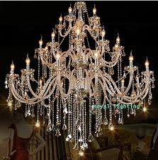 arms luxury font b chandelier b font villa hotel large crystal font b chandelier b
