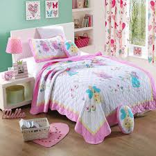 Free shipping 100%cotton princess embroidered handmade applique ... & Free shipping 100%cotton princess embroidered handmade applique patchwork  quilt twin size butterfly fairy bedspread Adamdwight.com