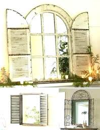 rustic shutter wall decor vibrant also window white shutte