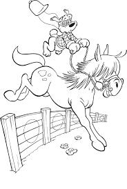 Kleurplaat Paard Spring