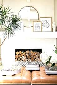round mirror decorating ideas fireplace mantel with living room