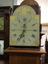 a wooden geared clock works