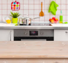 kitchen table top. Interesting Top Kitchen Table Top Background Stock Photo Wooden On Blurred  Bench Background P For A