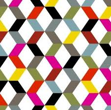 12 best parallelogram images on Pinterest | Quilt patterns, Paper ... & Colorful parallelograms are arranged to create a honeycomb effect on this  quilt fabric from the modern Adamdwight.com