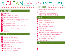Daily Chores Checklist A Clean Home Simply Kierste Design Co