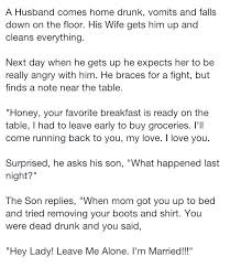 best funny stories images funny stuff random husband wakes up after coming home drunk but never expected this funny jokes story lol funny quote funny quotes funny sayings joke hilarious humor stories