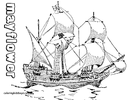 Perfect Mayflower Coloring Page 13 For Your Coloring Print With