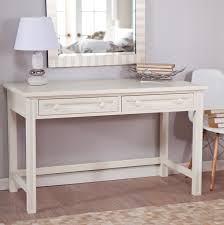 shabby chic white wooden makeup table with table lamp and wall mirror lovely vanity sets