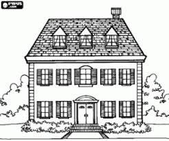 Kleurplaat Gevel Van Een Engelse Stijl Huis Kleurplaten