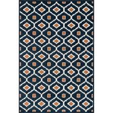 navy orange rug rugs oasis 7 x 9 area
