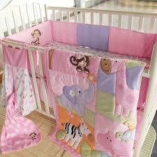 zebra giraffe monkey hippopotamus girl baby bedding sets 9 pcs quilt per bedskirt fitted diaper bag
