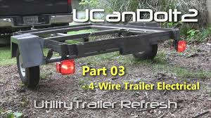 utility trailer 03 4 pin trailer wiring and diagram youtube trailer wiring color code at 4 Wire Trailer Wiring