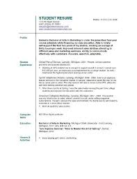 Resume Example For College Student Best Of Resume Template For College Students Resume Template For College