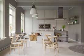 Bentwood Dining Table Dining Room Simple Scandinavian Dining Room Features Molded Wood