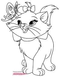 Disney The Aristocats Marie Coloring Page Wecoloringpagecom Louis