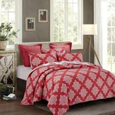 Buy Red Quilts from Bed Bath & Beyond & Elaine Reversible Full/Queen Quilt Set in Red Adamdwight.com