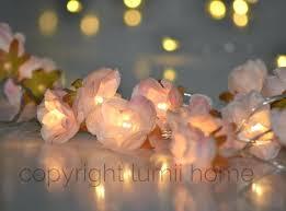 Flower Lights For Bedroom Pale Pink Rose Flower Fairy String Warm White Led  Lights Vintage Wedding . Flower Lights For Bedroom ...