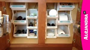 Under Kitchen Sink Organizing Bathroom Organization How To Organize Under The Cabinet Youtube
