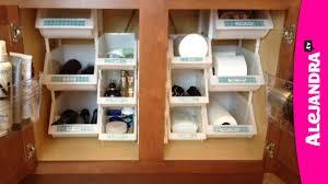 Bathroom Cabinet Organizer Bathroom Organization How To Organize Under The Cabinet Youtube