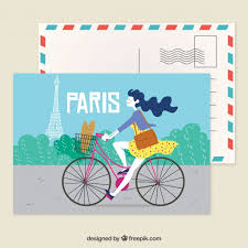 Paris Postcard Template With Hand Drawn Style Vector | Free Download