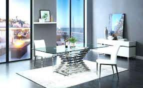 modern glass dining table and leather chairs round set room sets modern glass dining table set toronto extendable frosted