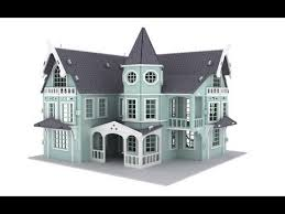 doll house furniture plans. FANTASY MANSION Doll House 3d Puzzle Pattern Plans Laser Router Furniture
