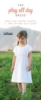 Dress Patterns For Toddlers Mesmerizing Free Girls' Dress Patterns Charity Sewing It's Always Autumn