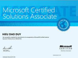Microsoft Mvp Certification Microsoft Certified Solutions Associate Daoduyhieus Blog
