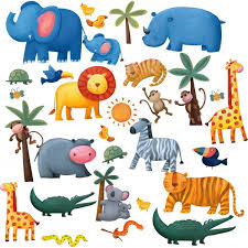 jungle adventure wall stickers