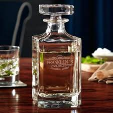 glass liquor decanter dapper gin decanter cut glass whisky decanter