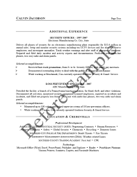 Before Security Management Resume 2