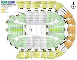 Final Four Seating Chart Ncaa Di Mens Basketball Spokane Arena March 19 21