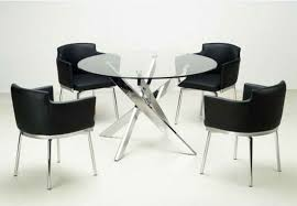 chairs set base for 4 dining room round glass dining table on dining room regarding round glass table with 8
