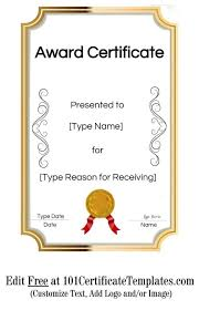 Free Downloadable Certificates Free Blank Award Certificate Templates For Word Printable