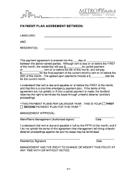 Payment Plan Template Payment Agreement Template Between Two Parties Forms