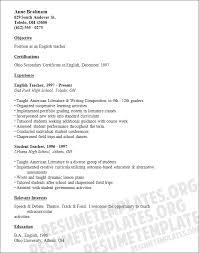 High school english teacher resume template for Free teaching resume  templates . Secondary school teacher resume ...