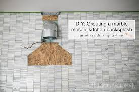 how to gout a mosaic tile backsplash