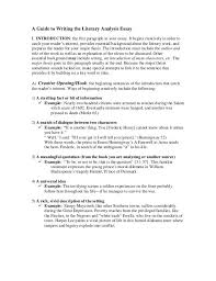 Example Of A Analysis Essay A Guide To Writing The Literary Analysis Essay Literary