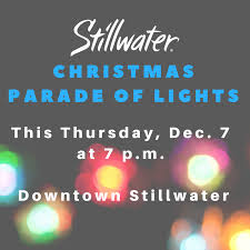 celebrate the holiday season at tonight s stillwater parade of lights beginning at 7 p m in downtown stillwater ht ly orhy30h56l4