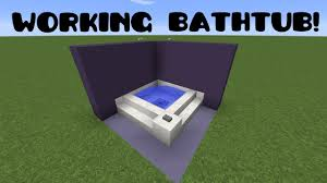 minecraft how to make a working bathtub easy tutorial