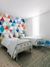 kids room wallpaper pink goose feather pillow modern bedroom